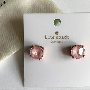 Kate Spade Gumdrop Enamel Stud Earrings ~ Blush